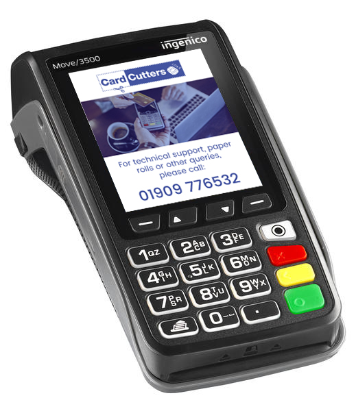 Tetra Move 3500 Mobile Credit Card Machine Reader - Card Cutters